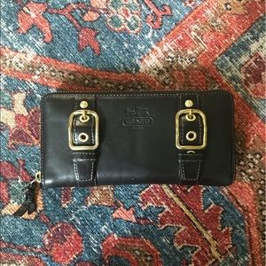Black leather Coach wallet